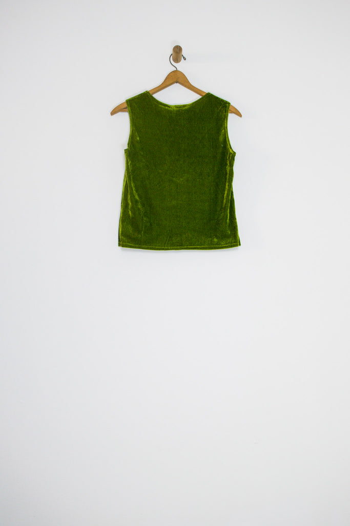 80's/90's MOSS VELOUR TANK TOP / MEDIUM