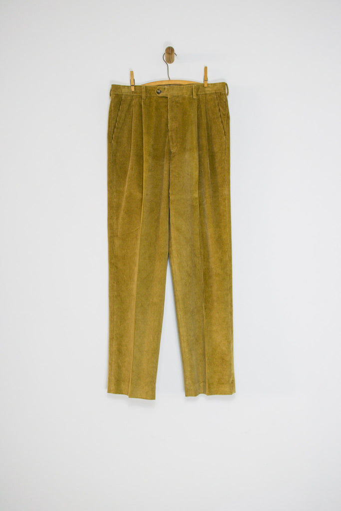 80's TAN CORDUROY TROUSERS / 34