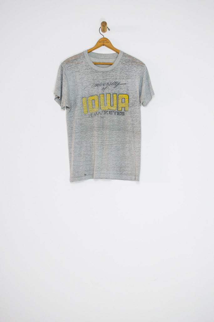 70's/80's THREADBARE UNIVERSITY OF IOWA TEE / MEDIUM
