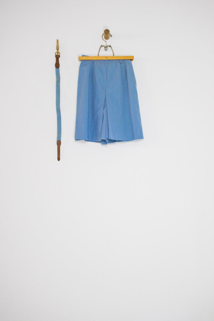 50's BLUE HIGH WAIST CULOTTE SHORTS / 23