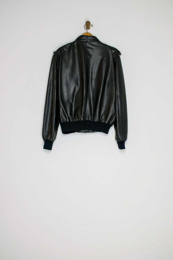 80's MEMBERS ONLY LEATHER JACKET / LARGE