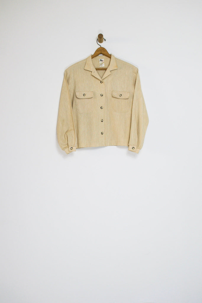 90's LINEN LIGHT JACKET / MEDIUM
