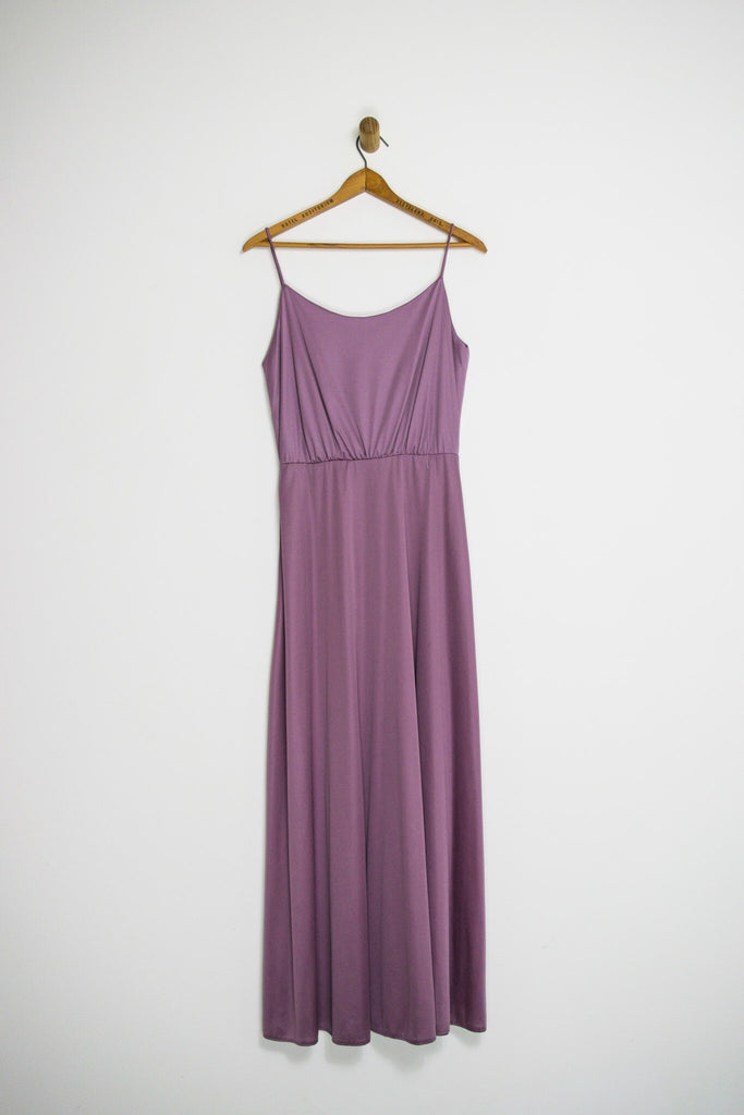 70's PURPLE LACE MAXI SZ M