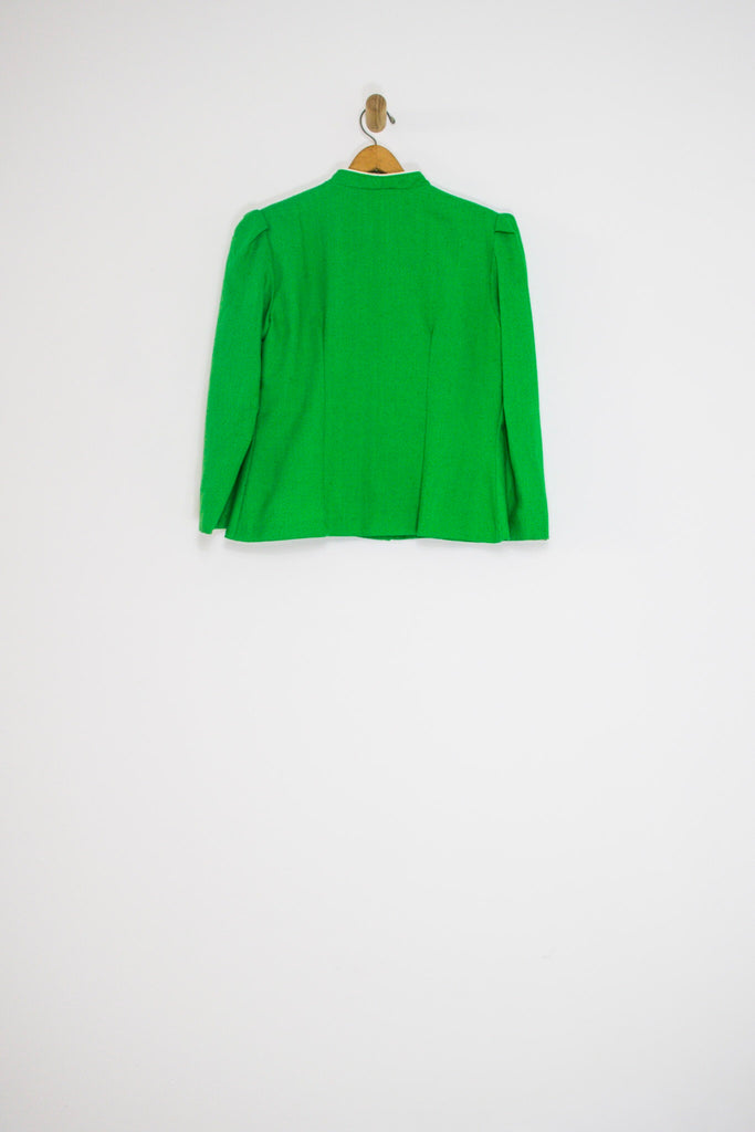 70's/80's KELLY GREEN TWO PIECE SUIT / MEDIUM