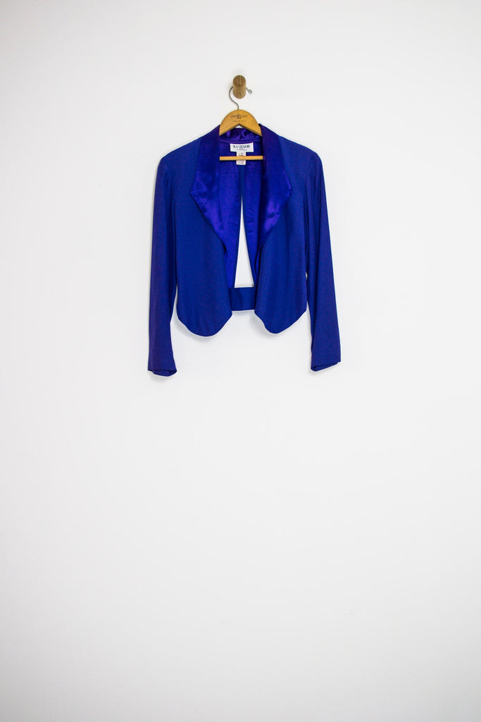 80's PURPLE CUT OUT BLAZER / SMALL