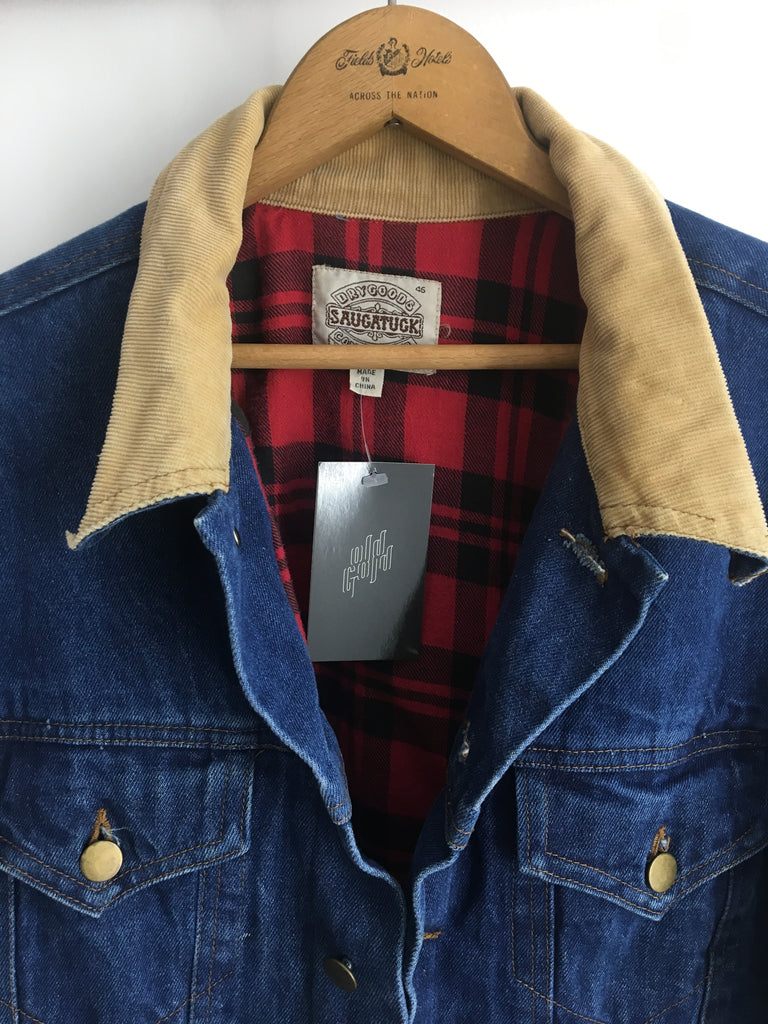 80's/90's FLANNEL LINED DENIM JACKET / LARGE