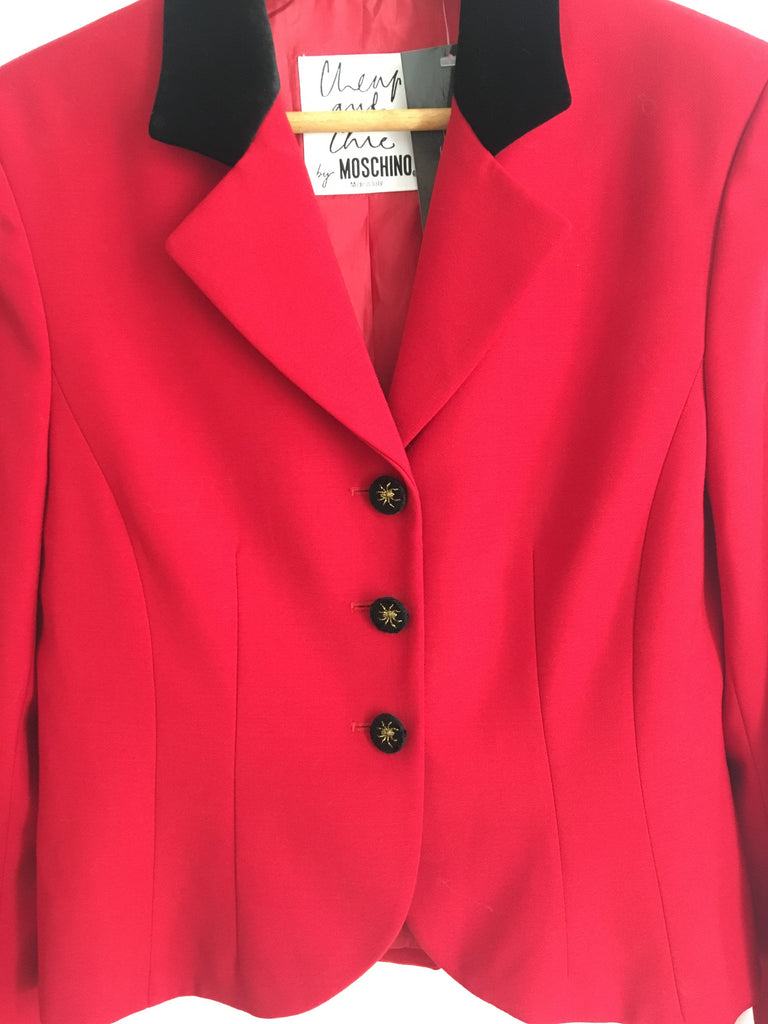 90's MOSCHINO SPIDER BLAZER / MEDIUM