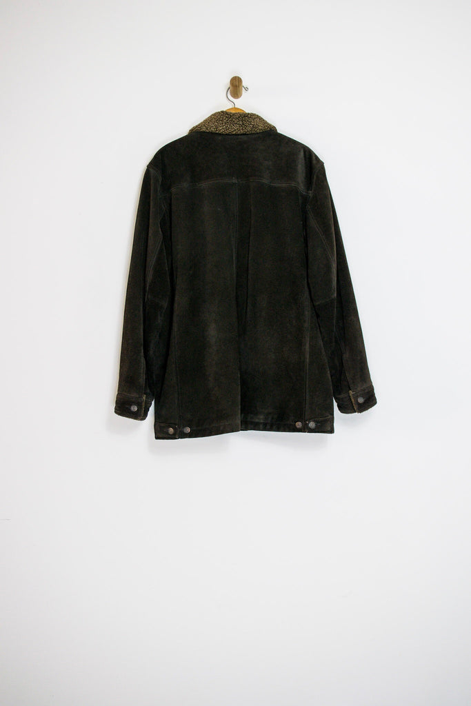 90's GAP SUEDE AND SHEARLING COAT / LARGE