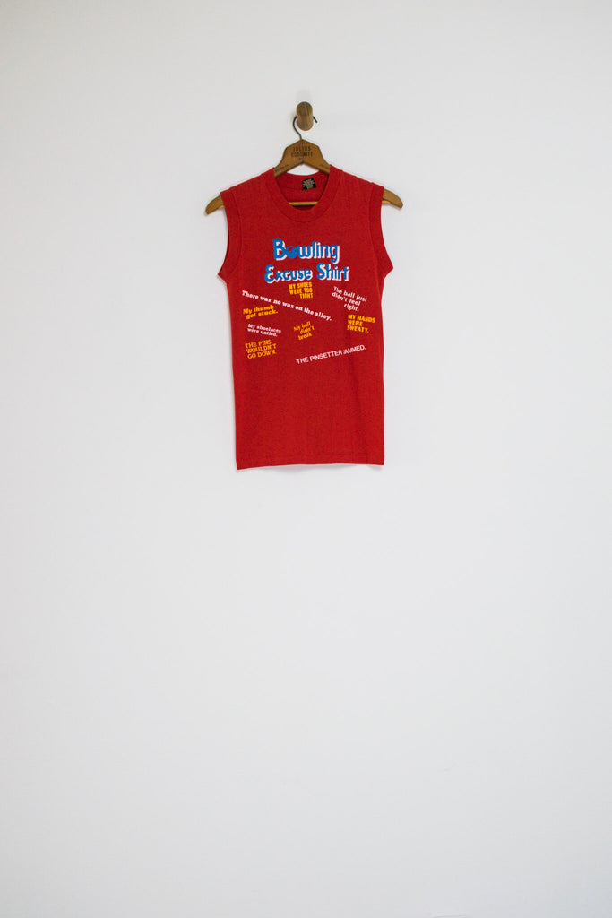 70's BOWLING EXCUSE MUSCLE TEE / EXTRA SMALL
