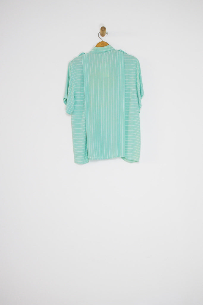 80's SPEARMINT BUTTON UP / MEDIUM