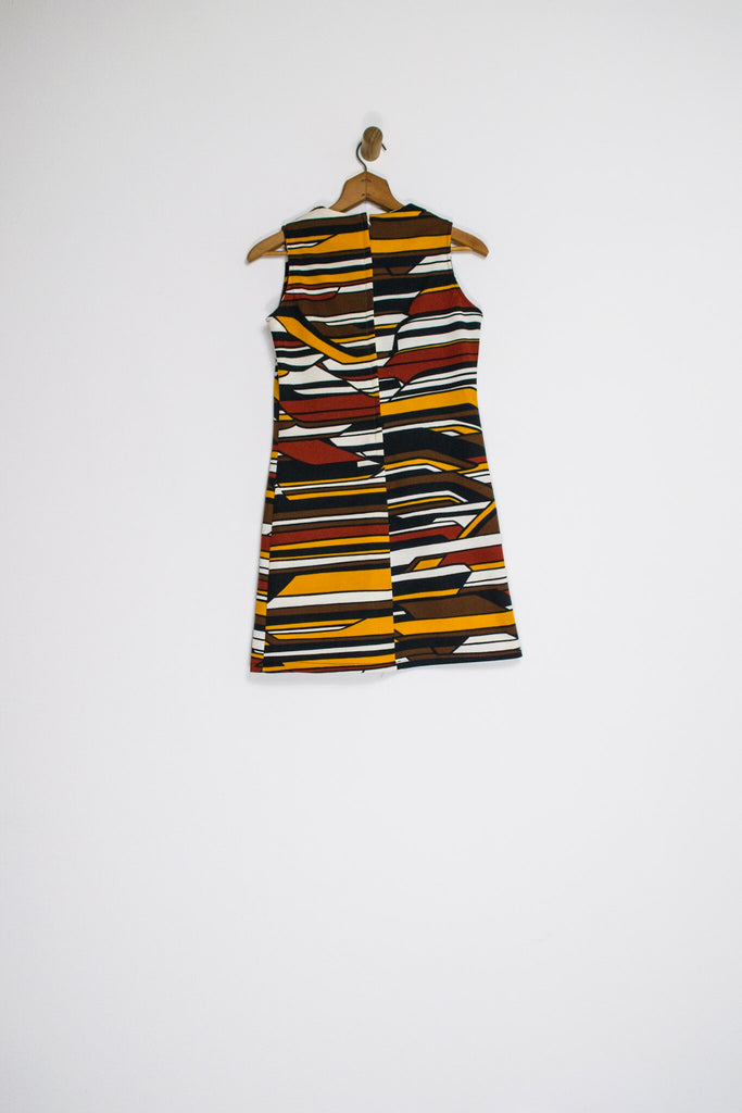 60's MOUNTAIN RANGE SHIFT DRESS / MEDIUM