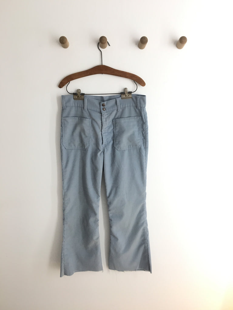 70's BLUE HIGH WAISTED LEVI'S CORDUROYS / 33