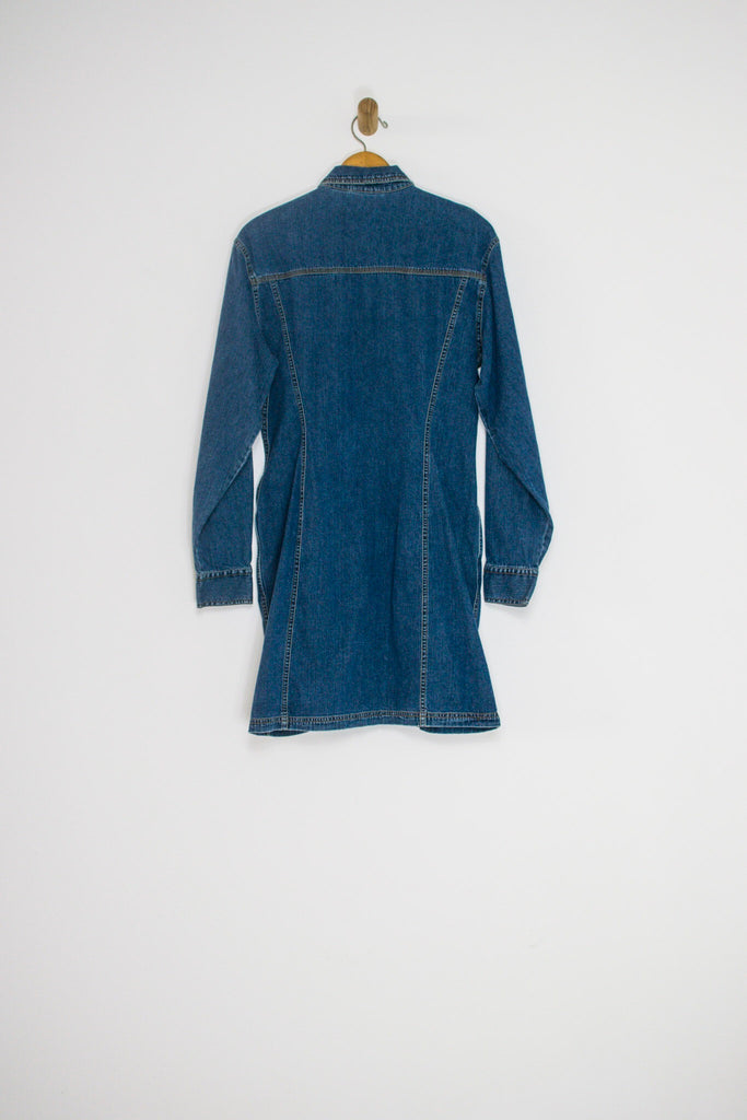 90's DKNY DENIM DRESS / MEDIUM