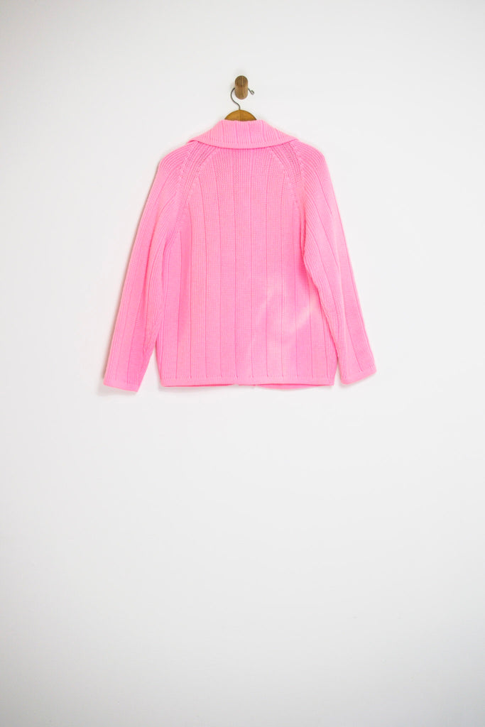 60's BUBBLEGUM PINK CARDIGAN / MEDIUM
