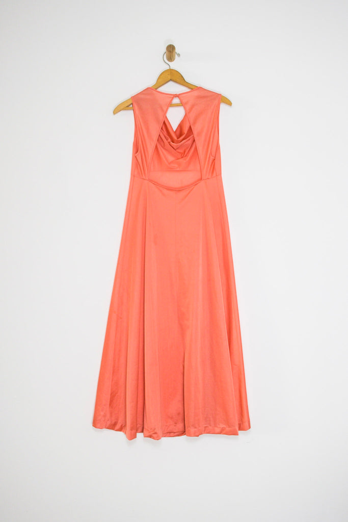 70's PEACH NIGHTIE / MEDIUM