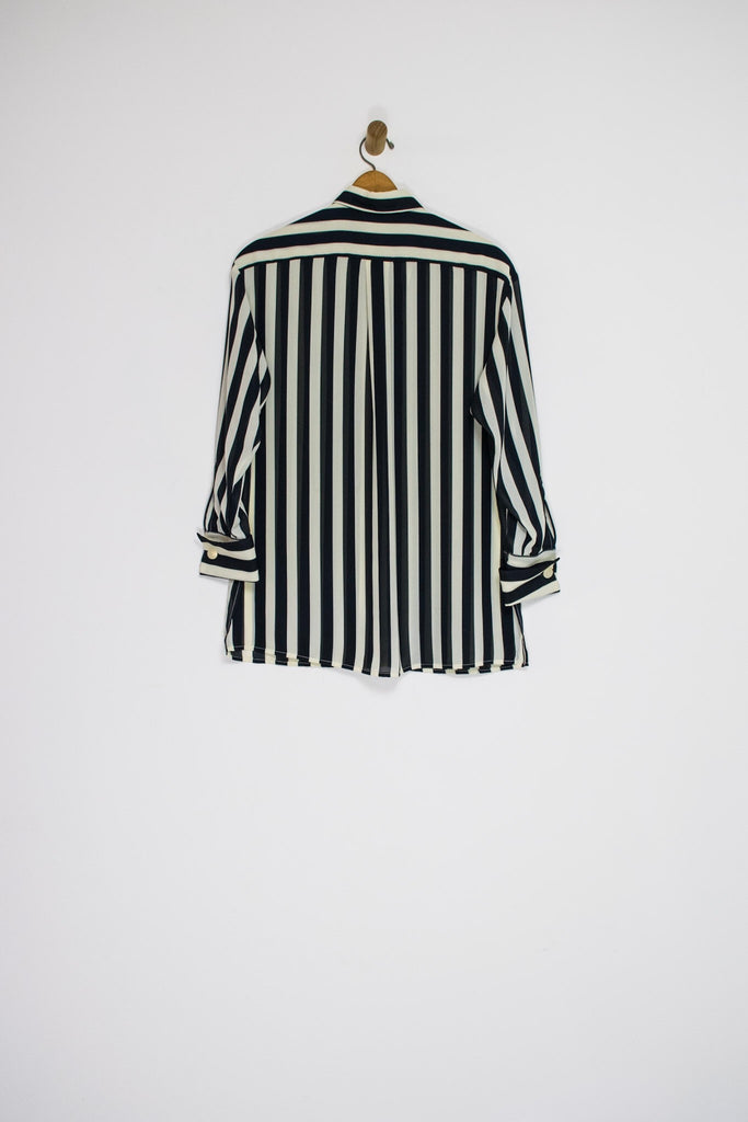 90's ANNE KLEIN STRIPED BUTTON UP / MEDIUM
