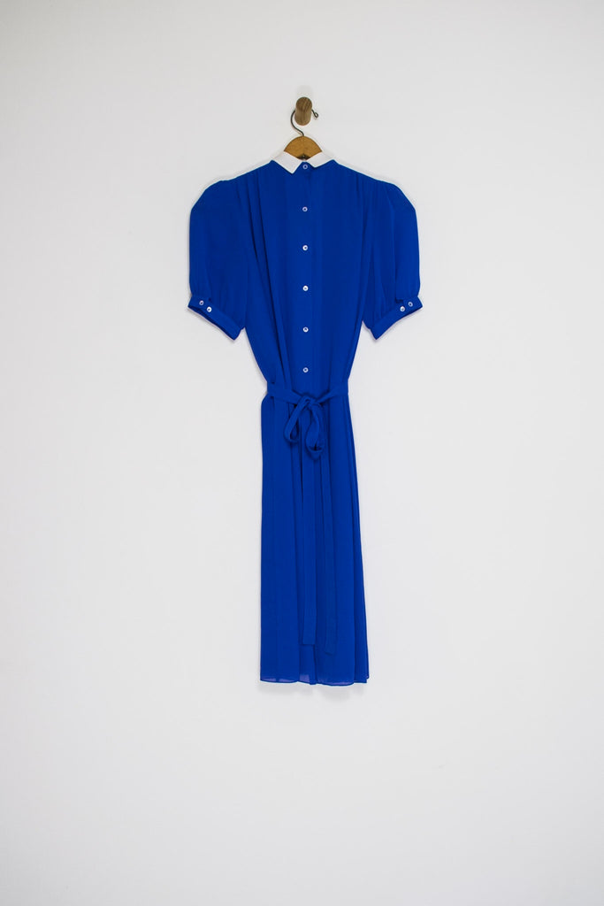 80's PIERRE CARDIN PLEATED DRESS / MEDIUM