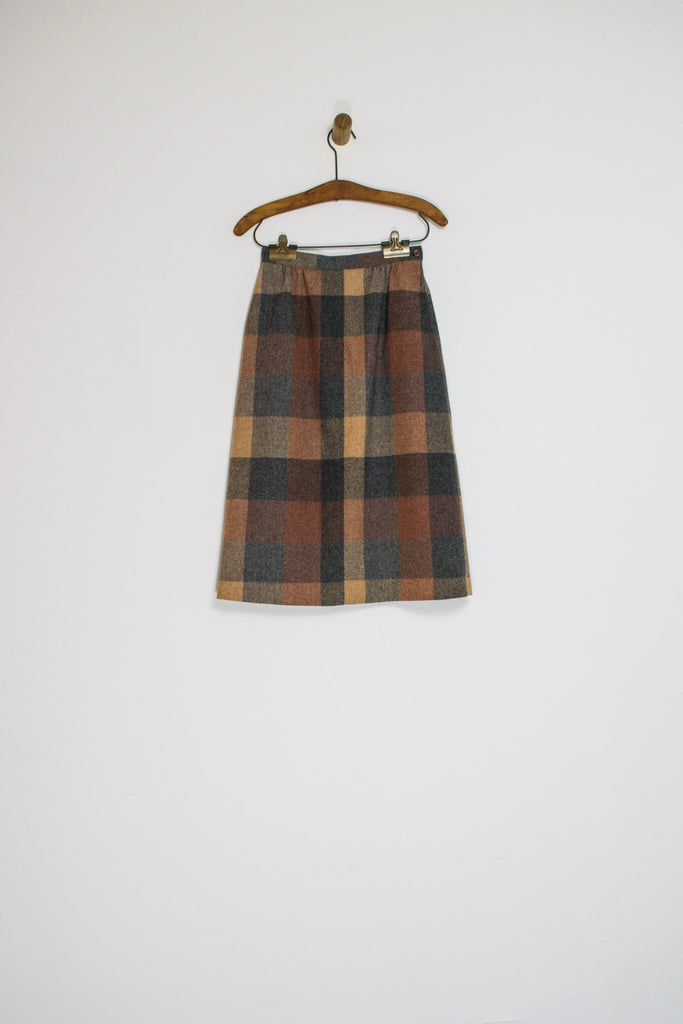 70's SIR FOR HER PLAID SKIRT WITH POCKETS / 24