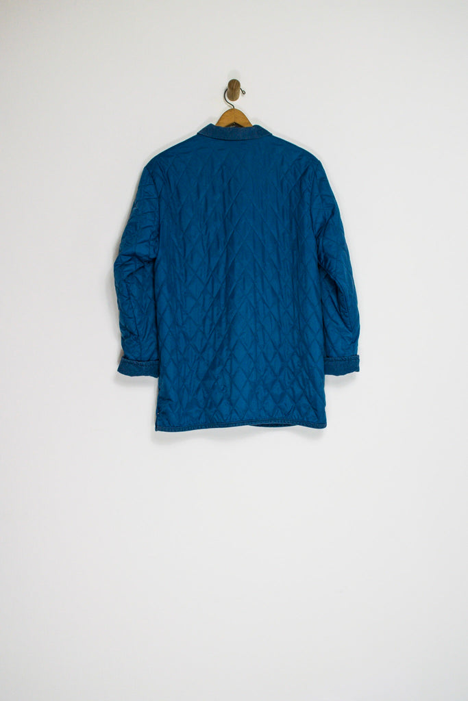 90's QUILTED JACKET / LARGE