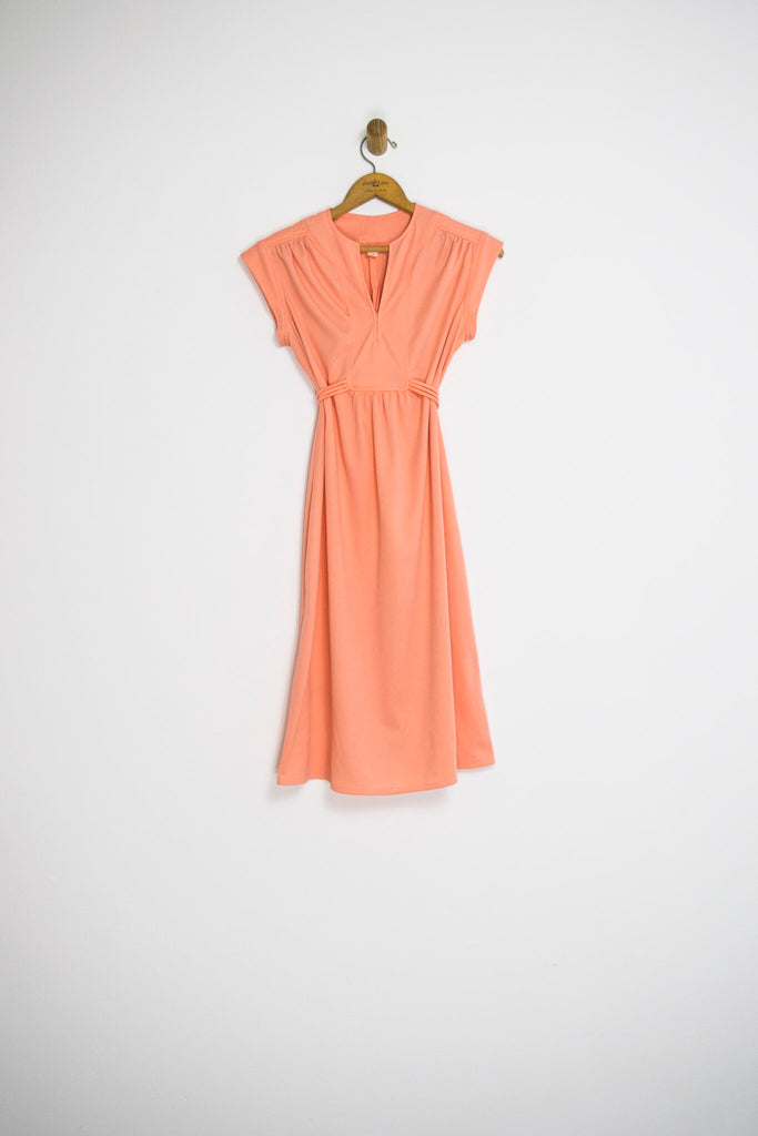 60's PEACH EMPIRE WAIST / MEDIUM
