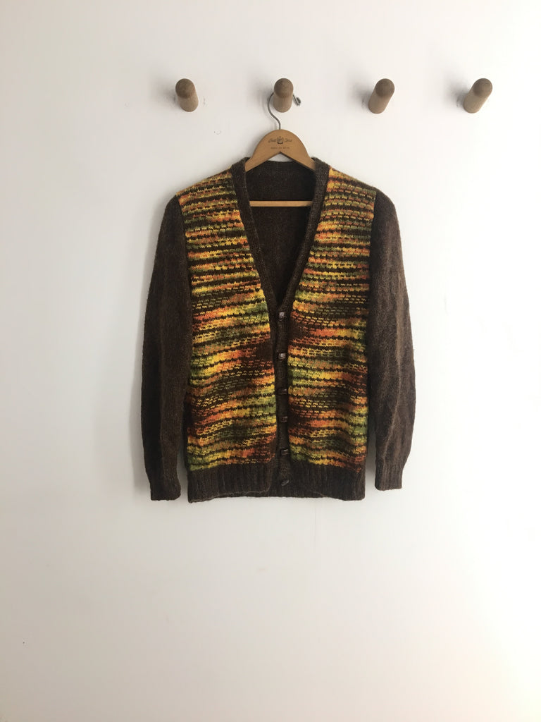 70's FALL STRIPED CARDI / SMALL