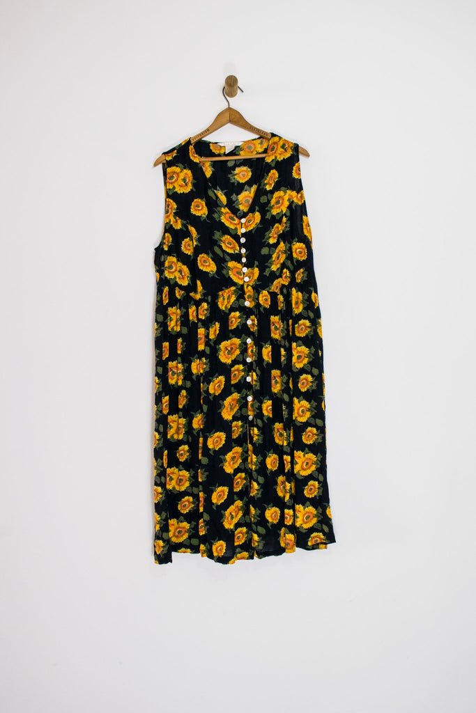 90's SUNFLOWER DRESS / EXTRA LARGE
