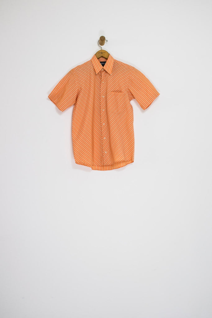 80's SHERBET CHEVRON BUTTON UP / EXTRA SMALL