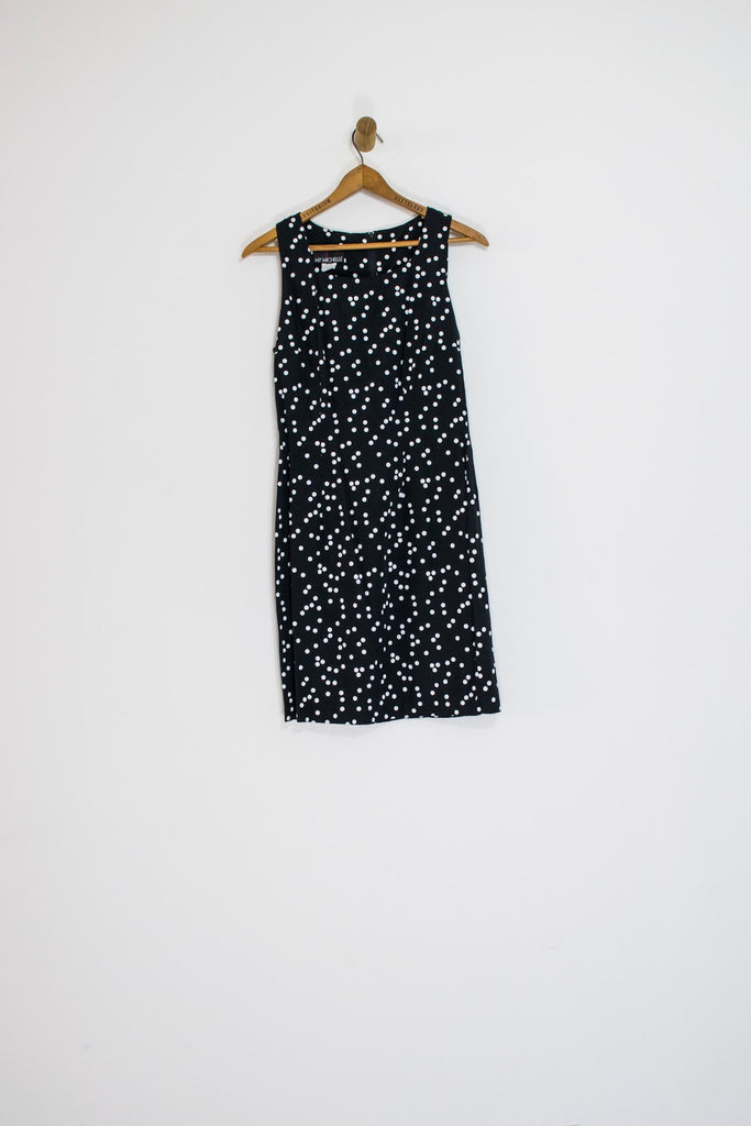 90's POLKA DOT DRESS / MEDIUM