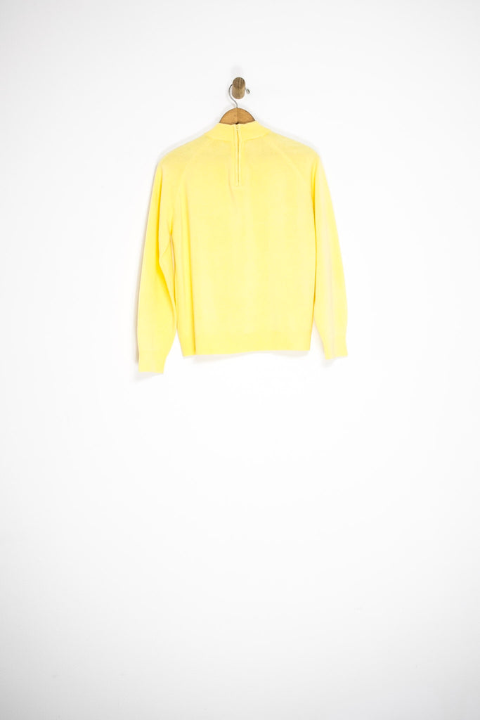 60's YELLOW SWEATER / MEDIUM