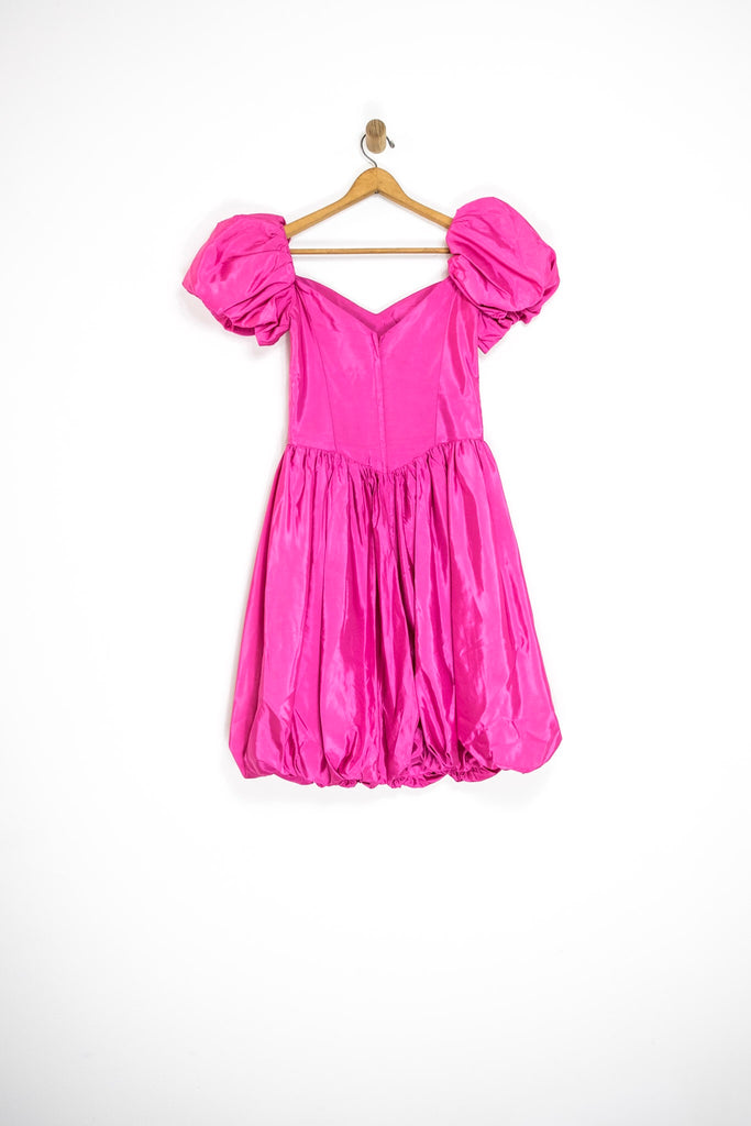 1980's PUFF SLEEVE PARTY DRESS / MEDIUM