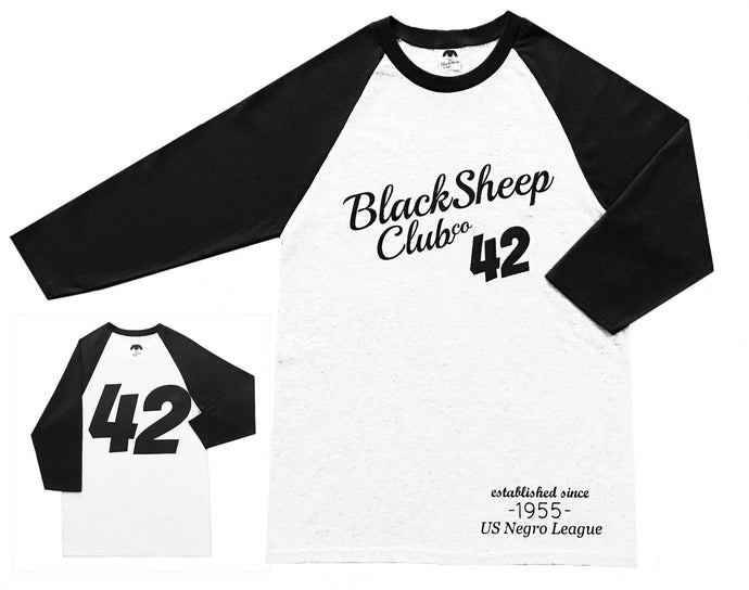 Vintage Negro League Baseball T  - White with Black Sleeves