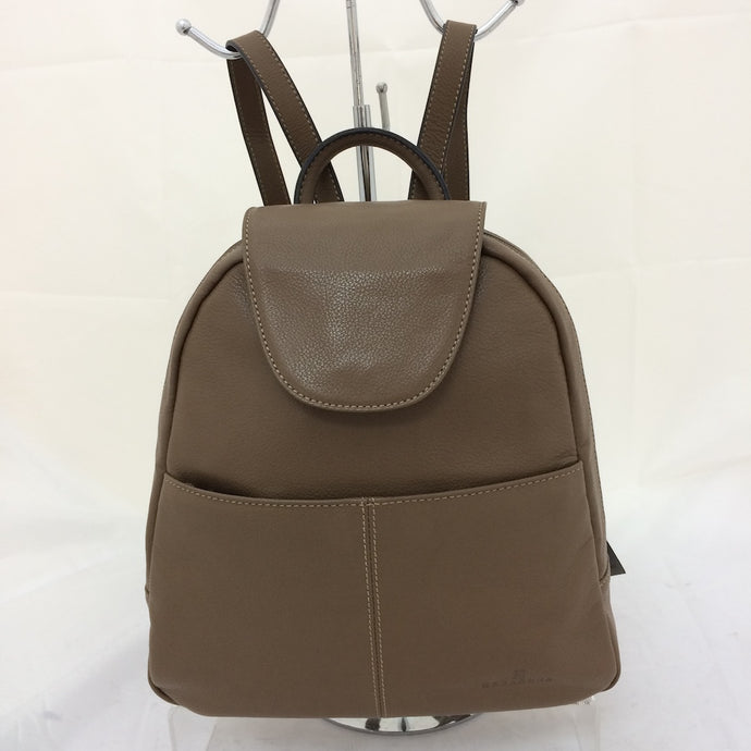 Leather compact backpack
