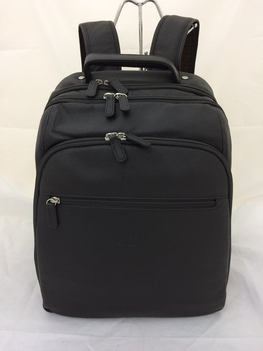 Large Leather Backpack with multi compartments
