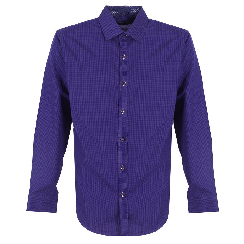 Camisa Casual En Detalles Royal Blue