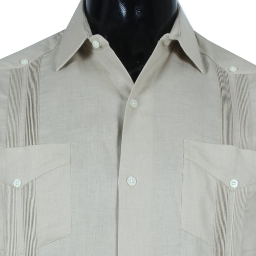 Guayabera Formal Khaki