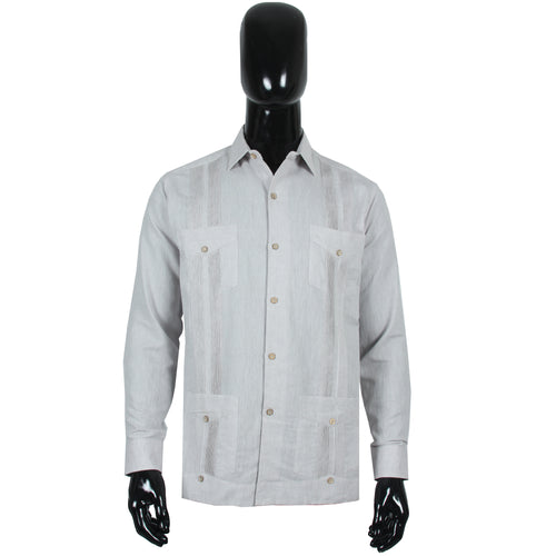 Guayabera Formal Gris