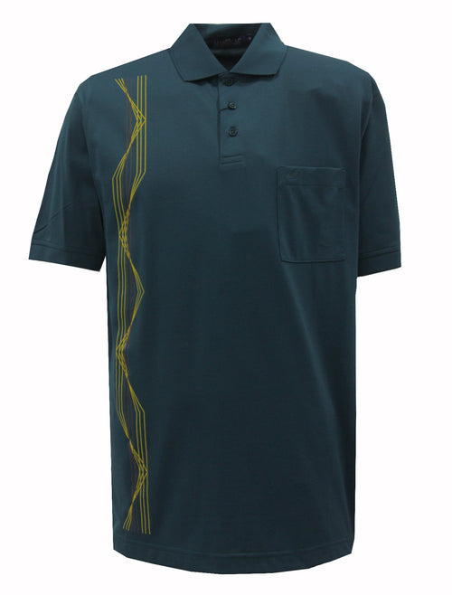 Playera Polo DryTouch Petroleo