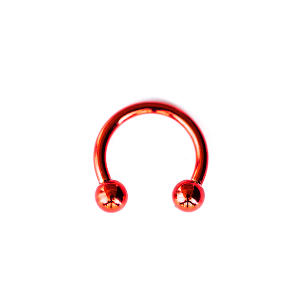 RED STEEL CIRCULAR BARBELL 16 GAUGE