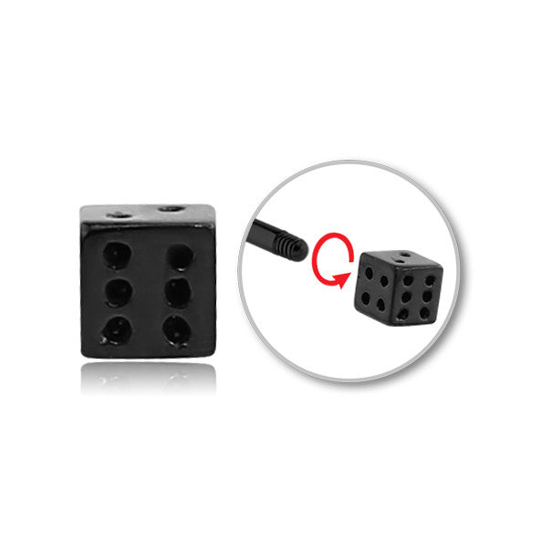 BLACK STEEL THREADED DICE 14 GAUGE