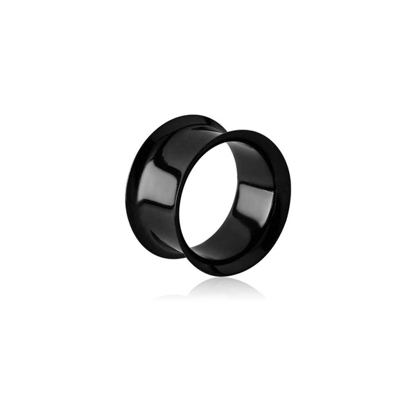 TUNNEL - DOUBLE FLARED STAINLESS AND BLACK STEEL 8MM