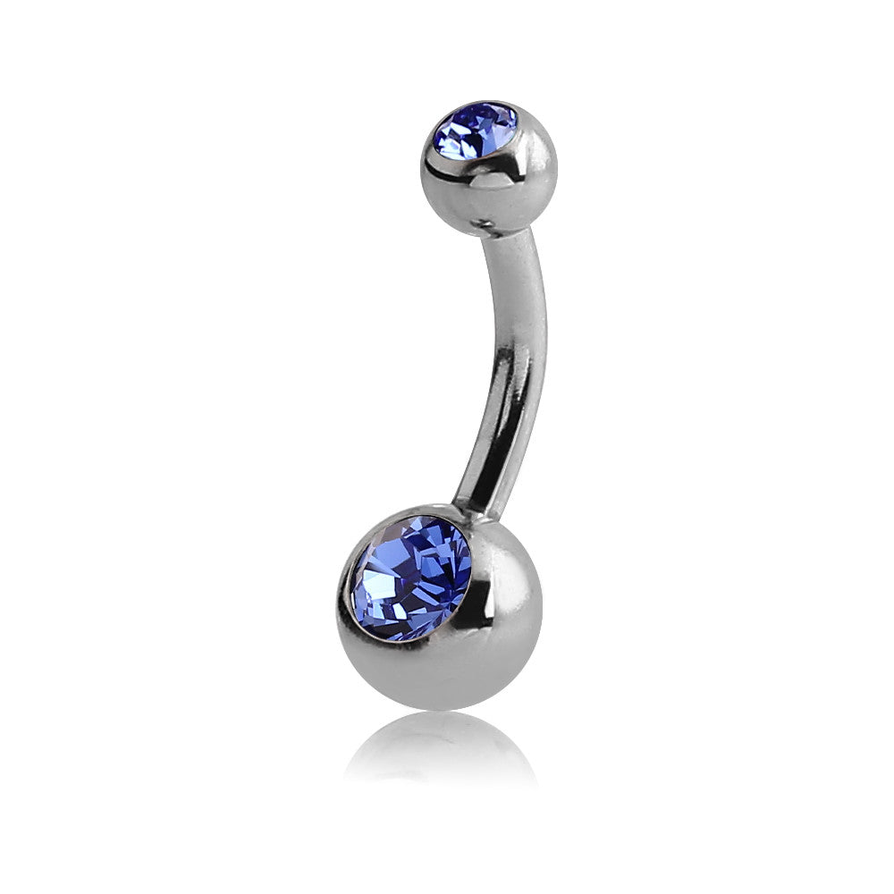 SML SAPPHIRE JEWELLED NAVEL BARBELL