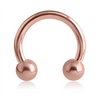 CIRC. BARBELL - 14 G ROSE GOLD