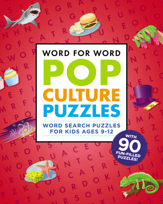 Word for Word: Pop Culture Puzzles: The Coolest Word Search Book for Kids ages 9-12