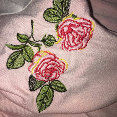 Rose Vintage Embroidered T-shirt