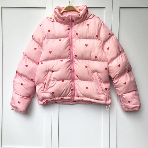 Cute Kawaii 90s Style Pink Coat