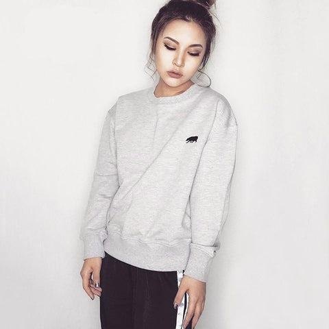 Sweatshirt With Embroidered Polar Bear