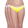 Classic Bikini Panty Pack Of 3 Multi Coloured S Size - PNA03ML04-S