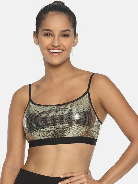 BRAG Sequin Bustier Top - Gold