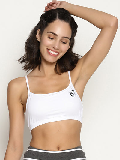 Miss BRAG Classic Bralette for Teenagers / Beginners - White: Japanese Girl Print