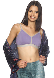 BRAG Triangle Hook Back Unpadded Bralette-Purple
